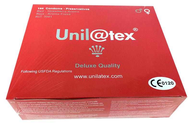 Unilatex Strawberry 144 Kondome